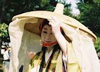 Woman at parade in costume (Kyoto)