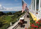 Carriages on Mackinac Island