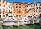 Neptune Fountain in Piazza Navona, Rome