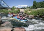 Rafting the South Platte River, near Denver