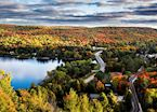 View from Dorset Lookout Tower, Muskoka