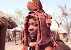 Himba woman in traditional dress, Namibia