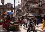 Local life on the walk between Thamel and Durbar Square