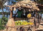 Anse Lazio fruit stall, Praslin