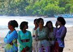 Local women attaending a ceremony in Medewi, Indonesia