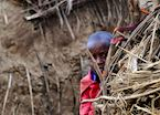A shy Maasai child