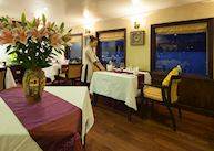 Restaurant on-board the Halong Violet