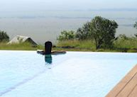View from the infinity pool, Angama Mara