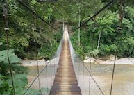 Bridge over to Jungle Lodge and Mega Inn, Tangkahan, Sumatra