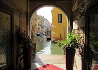 Water entrance at the Hotel Ca' D'Oro, Venice