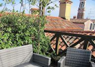 Roof terrace at Hotel Ca' D'Oro, Venice