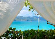 Beach Cabana, Guana Island, British Virgin Islands, Guana Island