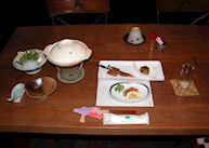 Winter supper, Kawaguchi Minshuku