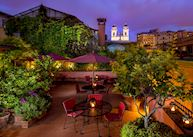Roof terrace, Inn at the Spanish Steps, Rome