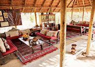 Lounge area at Camp Kalahari