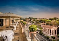 Roof terrace, 47Hotel, Rome