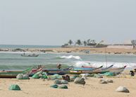 Fishing boats near Vivanta by Taj - Fisherman's Cove, Mahabalipuram