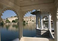 City Palace as seen from the Lake Palace Hotel, Udaipur
