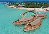 Aerial view of Ba'theli Lounge & Restaurant, Milaidhoo Island Maldives, Maldive Island