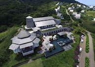 Aerial view, Belle Mont Farm, Saint Kitts