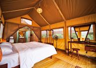 Tent interior, Cardamom Tented Camp
