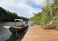 Arrival pier, Cardamom Tented Camp
