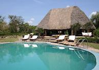 Swimming pool at Semliki Safari Lodge
