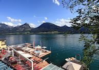 Sun terrace, Romantik Hotel Weissen Rossl