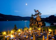 Patio at night, Treschers Schwarzwald Romantikhotel Am See