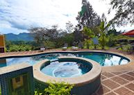 The pool at Villa Florencia, Turrialba