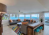 Living room at Haena Beach House
