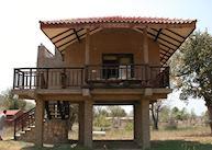 Cottage on stilts at Kings Lodge, Bandhavgarh