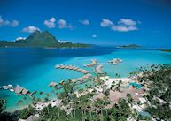 Aerial view of the Pearl Beach Resort, Bora Bora