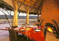 The restaurant at the Okonjima Bush Suite, Central Highlands