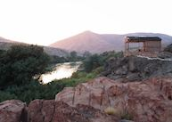 Overlooking the river at Kunene Camp, The Skeleton Coast