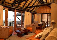 The lounge in the Crown Suite, GocheGanas Nature Reserve & Wellness Village, Windhoek
