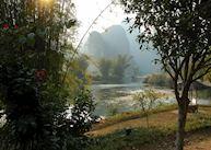 View from Yulong Mountain Retreat, Yangshuo
