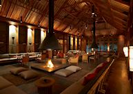 Dining area at the Malikha Lodge, Putao