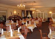 Dining room at the Hansa Hotel