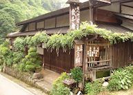 View from the front of Hanaya Ryokan, Tsumago