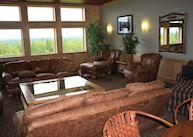 The lounge at Talkeetna Alaskan Lodge