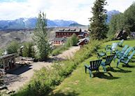 The view from Kennicott Glacier Lodge, McCarthy