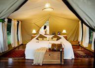 Luxury tent at Karen Blixen Camp