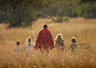 Family walk, Acacia House, Masai Mara