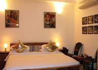 The Premier room at the Shanti Home, Delhi