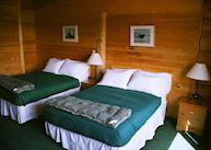 A room at the Bear Track Inn, Gustavus