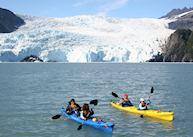 Kayaking at Kenai Fjords Glacier Lodge