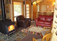 A cabin interior at Kenai Fjords Glacier Lodge, Seward