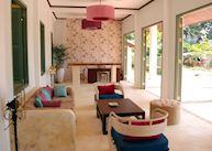 Reception area at Apsara Rive Droite, Luang Prabang