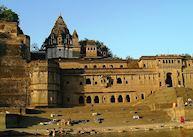 Ahilya Fort from the Narmada River,  Maheshwar